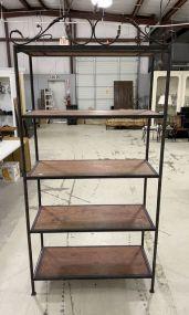 Large Metal and Wood Display Rack