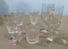 Six Assorted Waterford Crystal Glasses