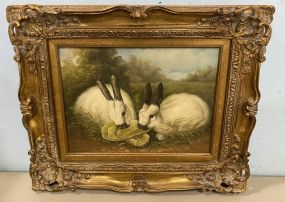 Oil Painting of Rabbits