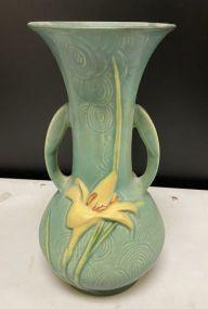 Roseville Pottery Zephyr Lily Vase Green