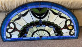 Half Moon Stain Glass Panel