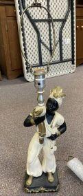 Blackamoor Style Resin Figural Lamp