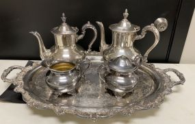 Old English by Poole Silver Plate Tea Set