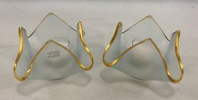 Pair of Annie Glass Votive Candle Holders