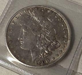 1900 Morgan Silver Dollar AU