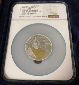 2017 France 5 oz. Silver Statue of Liberty
