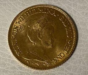 Netherlands 10 Gulden 1917
