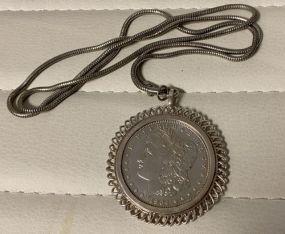 1904 Morgan-O Silver Dollar Necklace
