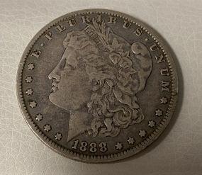 1888 Morgan Silver Dollar O