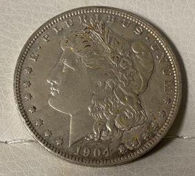 1904 Morgan Silver Dollar O