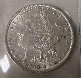 1890 Morgan Silver Dollar XF