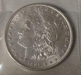 1889 Morgan Silver Dollar AU