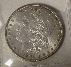 1886 Morgan Silver Dollar XF