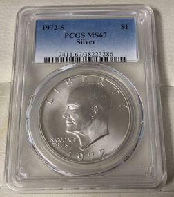 1972-S Silver Eisenhower Dollar