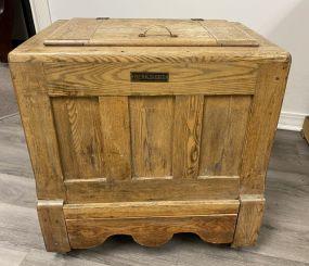 Vintage Berkshire Oak Ice Box