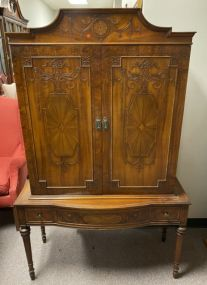 Vintage French Bookcase Cabinet