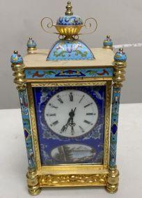 Chinese Cloisonne Enamel Clock