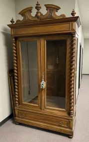 Antique Victorian Style Doll Cabinet