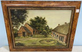 Vintage Village Painting by Raph Fret