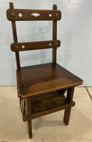 Antique Folding Library Chair/Ladder