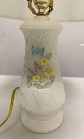 Woodland Bouquet Porcelain Lamp