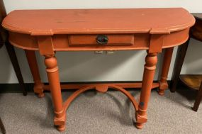 Factory Painted Demi Lune Console Table