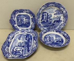 Modern Four Spode Platter and Chargers