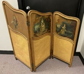 Antique French Style Small Folding Screen