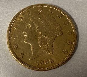 1899 $20 Liberty Head Gold Coin
