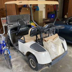 EZ Go White Golf Cart