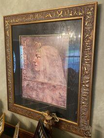 Gold Gilt Parrish Lady Portrait Print