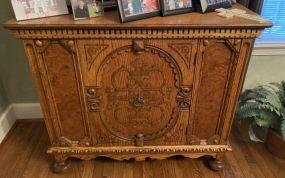 1940's Jacobean Style Oak Server