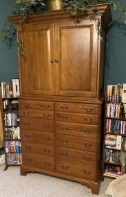 Keller Co. Oak TV Cabinet Chest
