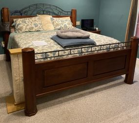 Miskelly Iron and Wood King Size Bed