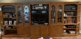 Large 7 Piece Entertainment Bookcase Set