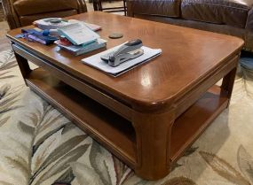 Modern Oak Two Tier Coffee Table