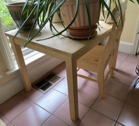 Modern Pine Child's Table and Chair