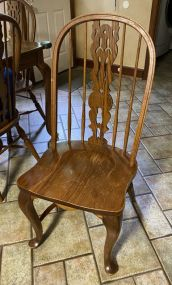 6 Antique Reproduction Queen Anne Windsor Chairs