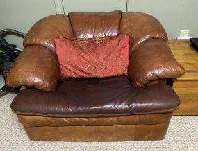 Fine Designs Brown Leather Club Chair