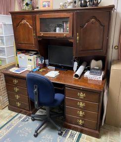Modern Cherry Computer Work Desk
