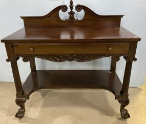 Mahogany Ball-n-Claw Server/Console Table