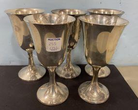 Five Sterling Goblets