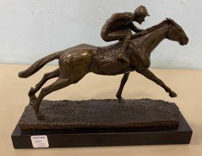 Bronze Style Jockey Statue
