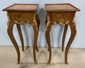 Pair of French Empire Side Table