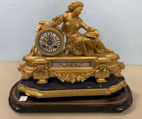 Mermod & Jaccard Jewelry Co. Brass Sevres Style Mantle Clock
