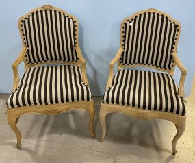 Pair of French Style Reproduction Arm Chairs