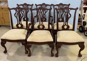 Thomasville Mahogany Chippendale Dining Chairs