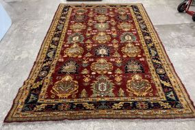 Hand Knotted Wool Persian Style Area Rug 6'5 x 9'6