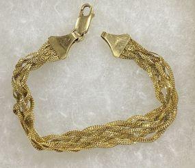 Italy 14KT Gold Bracelet