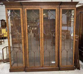 Large Three Three Section Display Cabinet